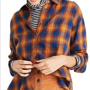Madewell westward plaid shirt